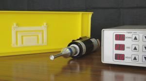 樹脂製コンテナボックスに超音波溶着器(ULTRASONIC WELDER)SUW150を使用してプレートを溶着してみました。