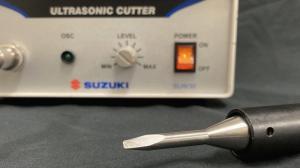 スズキ超音波カッターSUW30シリーズのオプション「M型ホーン・リペアハンドピース」で様々な溶着を試してみました。